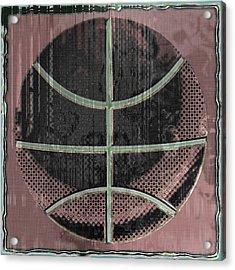 Basketball Abstract Acrylic Print by David G Paul