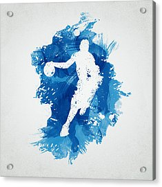 Basketball Player Acrylic Print by Aged Pixel