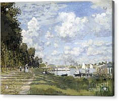 Bassin D'argenteuil Acrylic Print by Claude Monet