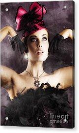 Beautiful Cancan Dancer Acrylic Print by Jorgo Photography - Wall Art Gallery