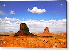 Beautiful Landscape Of  Monument Valley Arizona Acrylic Print by Katrina Brown