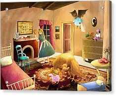 Bedtime With Polly Acrylic Print by Reynold Jay