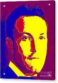 Ben Affleck Acrylic Print by Dalon Ryan