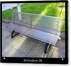 Benches Acrylic Print featuring the photograph Bench 08 by Roberto Alamino
