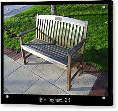 Benches Acrylic Print featuring the photograph Bench 09 by Roberto Alamino