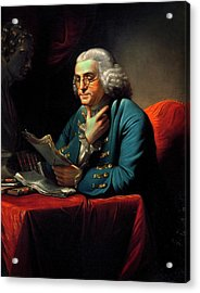 Benjamin Franklin Acrylic Print by American Philosophical Society