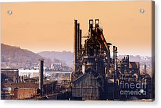 Bethlehem Steel Acrylic Print by Marcia L Jones