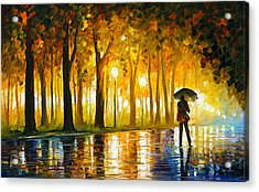 Bewitched Park Acrylic Print by Leonid Afremov