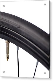 Bicycle Tyre Valve Acrylic Print by Science Photo Library