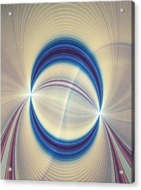 Bipolar Conceptual Illustration Acrylic Print by David Parker