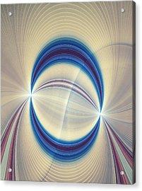 Bipolar Conceptual Illustration Acrylic Print by David Parker