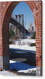 Bklyn Bridge Acrylic Print by Bruce Bain