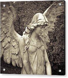 Black And White Angel Acrylic Print by Patsy Zedar