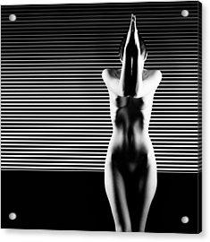 Black And White Artistic Nude Acrylic Print by Dan Comaniciu