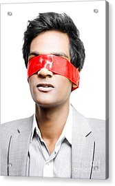 Blinded By Red Tape Or Held To Ransom Acrylic Print by Jorgo Photography - Wall Art Gallery