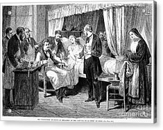 Blood Transfusion, 1874 Acrylic Print by Granger