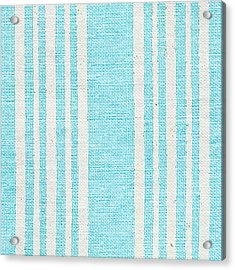Blue Fabric Acrylic Print by Tom Gowanlock