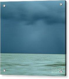 Blue Sea Acrylic Print by Bernard Jaubert