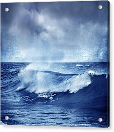 Blue Wave Acrylic Print by Guido Montanes Castillo