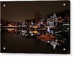 Boathouse Row Lights Acrylic Print by Bill Cannon