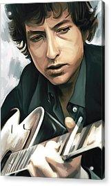 Bob Dylan Artwork Acrylic Print by Sheraz A