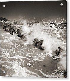 Bolonia Waves Acrylic Print by Guido Montanes Castillo
