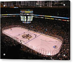 New England Acrylic Print featuring the photograph Boston Bruins by Juergen Roth