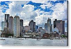 Boston Harbor Acrylic Print by Julia Springer