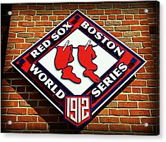 Boston Red Sox 1912 World Champions Acrylic Print by Stephen Stookey