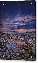 Bound Brook Sunset Acrylic Print by Rick Berk