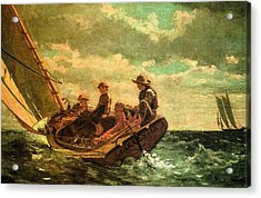 Breezing Up Acrylic Print by Winslow Homer