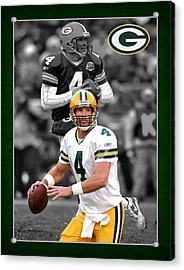 Brett Favre Packers Acrylic Print by Joe Hamilton