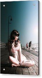 Bridge Woman Acrylic Print by Jorgo Photography - Wall Art Gallery