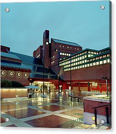 British Library Piazza Acrylic Print by British Library
