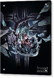 Broken Heart Acrylic Print by Jim Dowdalls