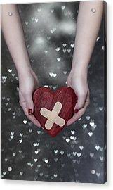 Broken Heart Acrylic Print by Joana Kruse