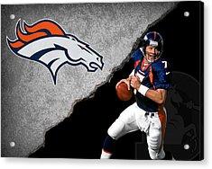 Broncos John Elway Acrylic Print by Joe Hamilton