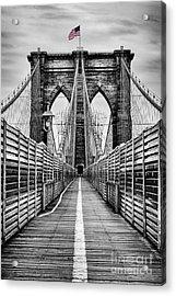 Brooklyn Bridge Acrylic Print by John Farnan