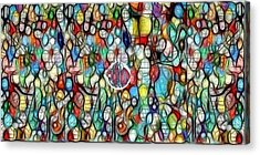 #1 Bubble Series Acrylic Print by George Curington