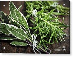 Bunches Of Fresh Herbs Acrylic Print by Elena Elisseeva