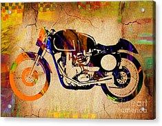 Cafe Racer Painting. Acrylic Print by Marvin Blaine