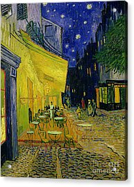 Cafe Terrace Arles Acrylic Print by Vincent van Gogh