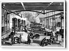 Candle Factory Acrylic Print by Science Photo Library