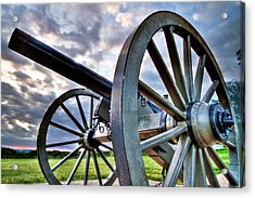 Cannon Over Gettysburg Acrylic Print by Andres Leon