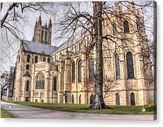 Canterbury Cathedral Acrylic Print by Ian Hufton