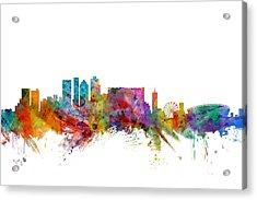Cape Town South Africa Skyline Acrylic Print by Michael Tompsett