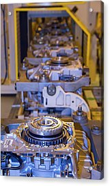 Car Transmission Assembly Line Acrylic Print by Jim West
