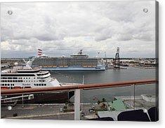 Caribbean Cruise - On Board Ship - 121214 Acrylic Print by DC Photographer