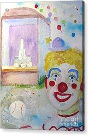 Carrie The Clown Acrylic Print by Sandy McIntire