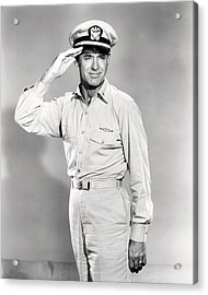 Cary Grant In Operation Petticoat  Acrylic Print by Silver Screen